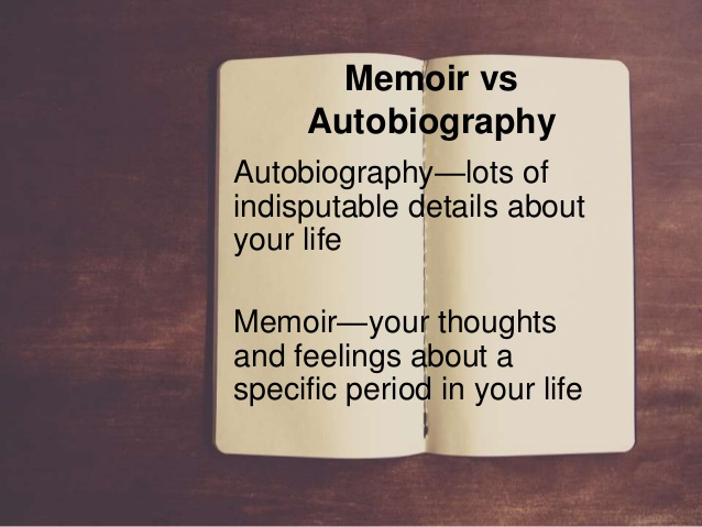 difference between memoir and personal essay Memoir: a story written with the word i as the author, you are the hero, the protagonist of this story everything that happens in it relates to you, and we should see that relationship however, great memoirs are often about things other than the author out of africa is about a coffee farm in africa.